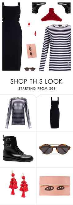 """""""Untitled #5083"""" by amberelb ❤ liked on Polyvore featuring Burberry, Zimmermann, Gianvito Rossi, Illesteva, Kate Spade, Clare V. and Hot Anatomy"""