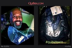 David used 13 voucher bids to win this backpack for only $0.36! #QuiBidsWin