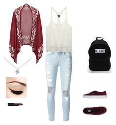 """""""Untitled #19"""" by maggie0le on Polyvore featuring Frame Denim, Wet Seal, Vans, Tiffany & Co. and NARS Cosmetics"""