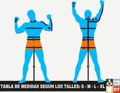 Esta tabla de medidas para hombres se basa en el sistema de tallas que utiliza las siguientes denominaciones: S  = small  (chico); M  = m...