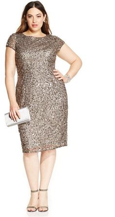 ebed07096ed Plus Size Cocktail Dress - Plus Size Sequined Dress - Plus Size Party Dress Plus  Size