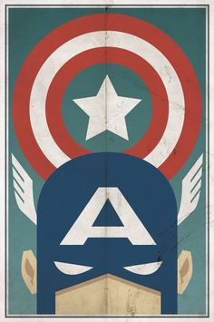 Vintage Captain America Poster (by Michael Myers?)