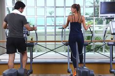 While working out, get energized by the superb views of the Caribbean Sea!  ¡Mientras se ejercita, puede disfrutar de las magníficas vistas del mar Caribe! #GymTime #BeachBody #GetFit