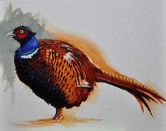 Rita Salazar Dickerson: Painting A Pheasant: Second Session