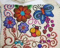 hippy bolza bordado etno MARIPOSA peru bohemian