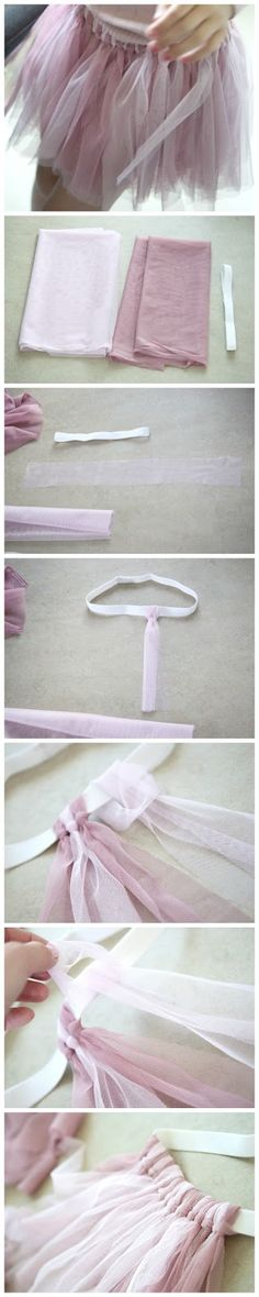 how to very simply make adorable little tu tu's for your little ones! so easy (not in English but self explanatory)