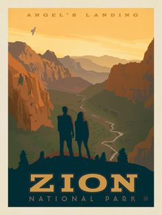 Anderson Design Group – American National Parks – Zion National Park: Angel's Landing