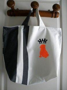 sac cabas noir et blanc 1 : Sacs à main par le-comptoir-d-asfeld sur ALittleMarket