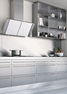 Discovery Act by Faber #kitchen #grey #metal @Faber Hoods