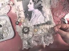 Vintage Shabby Chic Lace Collage Wall Hanging - YouTube...a great 90- minute tutorial