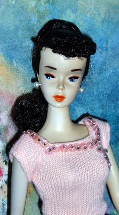 Vintage Barbie ~ Lovely A/O Brunette #3 Ponytail + Pink Pak Outfit | eBay