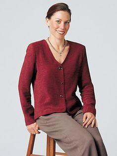 Textile Studio Capri Jacket : woven Learn To Sew, Buttonholes, Vests, Sewing Projects, Sewing Patterns, Fiber, Capri, Textiles, Studio