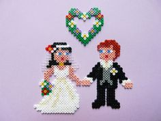 Hama mini beads 5503, Bride & Groom by Petri van Horrik