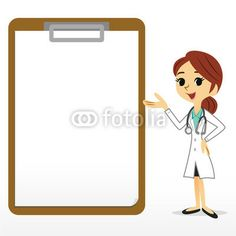 Female doctor and a medical record