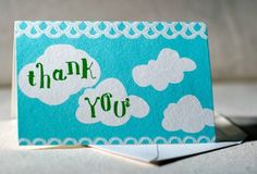 Thank you cards made with great eco-materials.