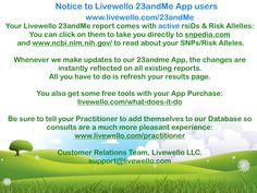 Livewello's 23andme App
