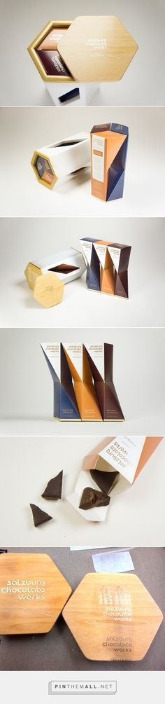 Award winning branding, creative design and packaging for Salzburg Chocolate Werks on Behance by Ning Li New York, NY curated by Packaging Diva PD. A special edition designed for celebrating the 100th year anniversary inspired by Egon Schiele's distorted human body figure drawing.