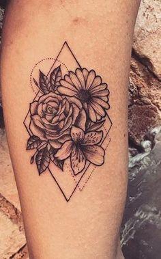 Beautiful Sunflower Geometric Triangle Forearm Tattoo Ideas for Women - Ideas d. - Tattoo Designs For You - - Beautiful Sunflower Geometric Triangle Forearm Tattoo Ideas for Women - Ideas d. - Tattoo Designs For You Trendy Tattoos, Sexy Tattoos, Body Art Tattoos, Small Tattoos, Tattoos For Guys, Twin Tattoos, Form Tattoo, Tattoo P, Shape Tattoo