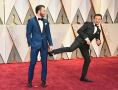 just-call-me-mrs-captain:  Chris Evans and Jeremy... - I'm gonna flip this fucking table, bro