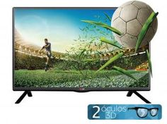 "TV LED 3D 32"" LG 32LB620B HDTV - Conversor Integrado 2 HDMI 1 USB"