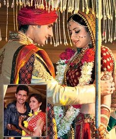 TV actors Ravi Dubey and Sargun Mehta, who met on the sets of daily soap Karol Bagh in tied the knot on Saturday, December in Chandigarh. Celebrity Wedding Photos, Celebrity Outfits, Celebrity Couples, Wedding Pics, Celebrity Weddings, Wedding Couples, Married Couples, Indian Celebrities, Bollywood Celebrities