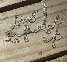 Filo d'argento collana iniziale nome