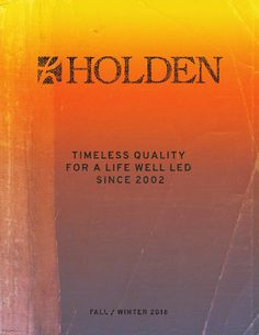 Holden Outerwear Catalog 2016/2017