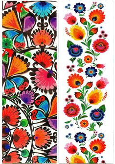 Folk Embroidery Patterns Folk motifs forever by ~NitroFieja on deviantART - Polish Embroidery, Embroidery Tattoo, Mexican Embroidery, Hungarian Embroidery, Folk Embroidery, Learn Embroidery, Embroidery Patterns, Folk Art Flowers, Flower Art