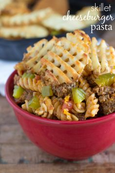 A cheeseburger-inspired pasta dish prepared in a cast-iron skillet. This easy meal is prepared in under 30 minutes and a family-friendly mea...