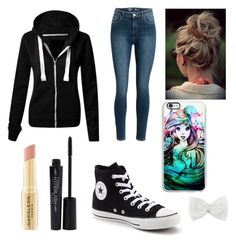 """Outfit for wattpad"" by snowconequeen ❤ liked on Polyvore featuring Napoleon Perdis, Smashbox, Converse, Decree and Samsung"