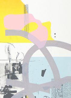 Damien Tran. Untitled 08. Screenprint 50 x 70 cm, 5 colors Edition of 15. 2014