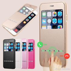 For IPhone 6 4.7 IPhone 6Plus 5.5Smart Flip Leather Pouch Case Magnetic Sliding Answer Calls Window View Stand Wallet Cover from Mayiandjay,$2.16   DHgate.com