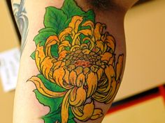 Yellow Chrysanthemum Tattoo