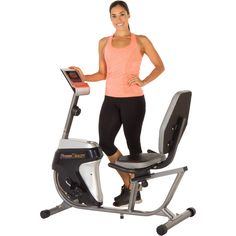 Fitness Reality R4000 Recumbent Exercise Bike with Workout Goal Setting Computer Sale