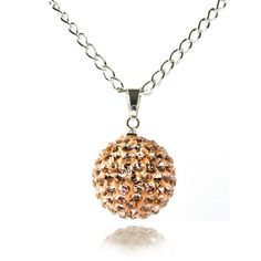 Fizzball Collection Lemonade Crystal Ball Necklace Peach - 4EverBling