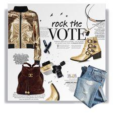 """Hoje é dia de rock, babê!"" by railda-pereira ❤ liked on Polyvore featuring H&M, Boohoo, Gap, Chanel, Toga, Clé de Peau Beauté and Timorous Beasties"