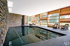 Contemporary Pool in Blue Ridge Mountains, NC