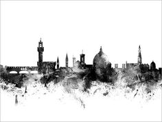 Florence Italy Skyline Art Print 1514 by artPause on Etsy