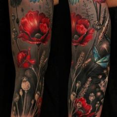Poppy sleeve tattoo