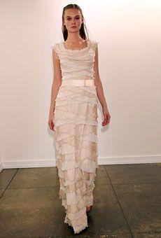 new Tadashi Shoji wedding dresses fall 2012