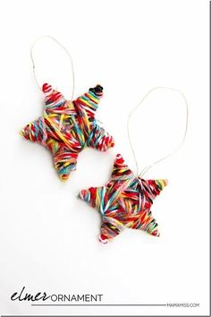 Mama Miss Elmer star ornament