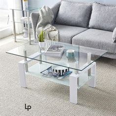 Living Room Glass Tables with Modern Leg and Double Glazed Table Stainless Steel offers clean lines and sturdy construction. The unique style features a tempered-glass table top and bottom shelf, with beveled edges for a clean look. Dimensions: 110 x 60 x 45.5cm Table Tempered Glass Thickness: 6/8mm Material: Tempered Glass Iron Tube