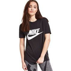 Nike Signal T-Shirt ($39) ❤ liked on Polyvore featuring tops, t-shirts, long t shirts, white t shirt, long white tee, white tee and long white t shirt
