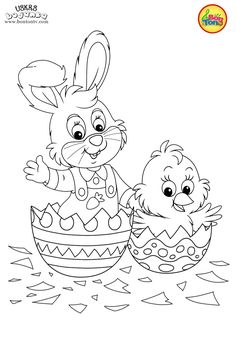 Easter coloring pages - Uskrs bojanke za djecu - Free printables, Easter bunny, eggs, chicks and more on BonTon TV - Coloring books Free Easter Coloring Pages, Farm Coloring Pages, Easter Bunny Colouring, Dog Coloring Page, Animal Coloring Pages, Coloring Pages To Print, Coloring Sheets, Free Coloring, Coloring Books