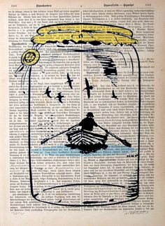NEVER ENDING original ARTWORK mixed media print by artretro, $12.00