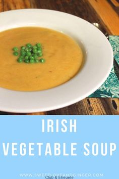 This is my take on the Irish Vegetable Soup that we had and loved during our time in Ireland. This is my take on the Irish Vegetable Soup that we had and loved during our time in Ireland. Best Vegetable Soup Recipe, Low Carb Vegetable Soup, Homemade Vegetable Soups, Vegetable Soup With Chicken, Low Carb Vegetables, Veggie Soup, Pureed Vegetable Soup, Veggies, Irish Soup