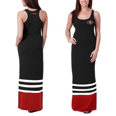 San Francisco 49ers  47 Brand Women s Replay Maxi Dress - Black -  59.99  Eagles Clothing 4d32d0075
