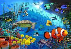 under the sea wall murals   Under the Sea Murals   Kingpin Printing, Johannesburg   www.kingpinprinting.co.za