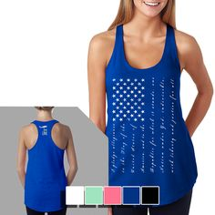 Womens Racerback Tank - The Pledge - Nine Line Apparel