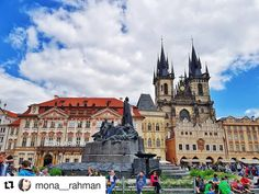 #Repost @mona__rahman Old Town Square Prague  Some places are just magnificent  Travel in My Shoes #travel #travelinmyshoes #travelblogger #traveling #travelwithme #traveller #oldtown #oldtownprague #travelwithme #prague #czechia #czechrepublic  #pictureoftheday #europe #eurotrip #prague2017  #architecture #pretty #beautiful #sunny #view #weather #cold #amazing #comment #commentforcomment #commentbelow